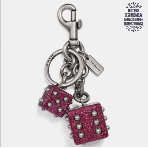 Coach Accessories - 🎉 HP 🎉 🆕 Coach Dice Key Chain & Bag Charm